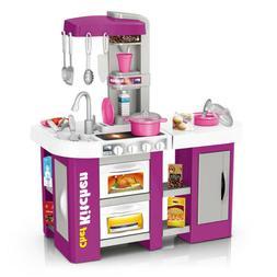 Kitchen Kids Play Set Pretend Baker Toy Cooking Playset Girl