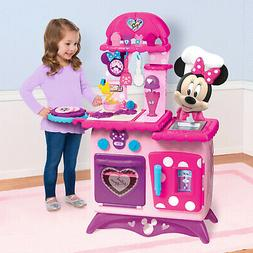 Kitchen Play Set Kids Minnie Mouse Girl Pretend Cooking Soun