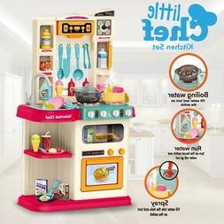 Kitchen Play Set Pretend Baker Kids Toy Cooking Playset Girl