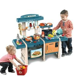 Kitchen Play Set Pretend Baker Kids Toy Cooking Food Playset