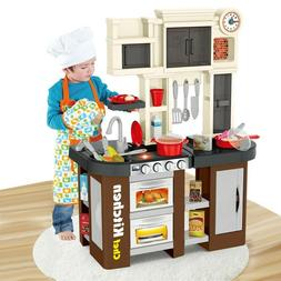 Kitchen Play Set Pretend Baker Kids Toy Cooking Playset Chil