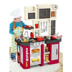 Large Kitchen Kids Play Set Pretend Baker Toy Cooking Playse
