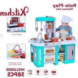 Kitchen Pretend Play Set Kids Toy Cooking Baker Playset Girl