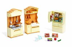 Calico Critters Kitchen Play Set Stove Sink Refrigerator Ute