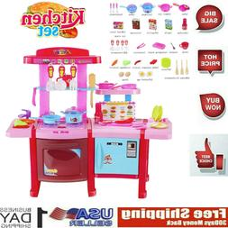 Kitchen Play Set Toys For Girls Children Kids Pretend Play C