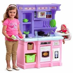 Kitchen Playset For Girls Pretend Play Refrigerator Toy Cook