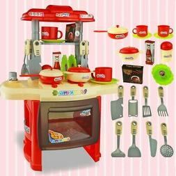 Kitchen Playset Play Kids Pretend Play Toy Toddler Kitchenwa