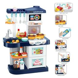 Kids Kitchen Play Sets for Boys With Smart Touch Screen Remo