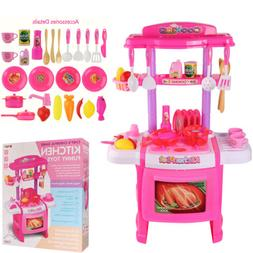 Kitchen Pretend Play Set With Realistic Lights Sounds Kids T