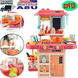 Kitchen Pretend Play Toys For Kids Role Play 42PCS Cooking S