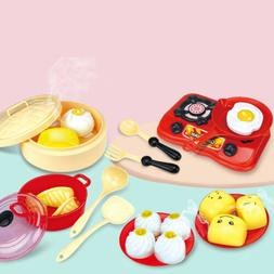 Kitchen Toys 18-piece Breakfast Pretend Food Playset for Chi