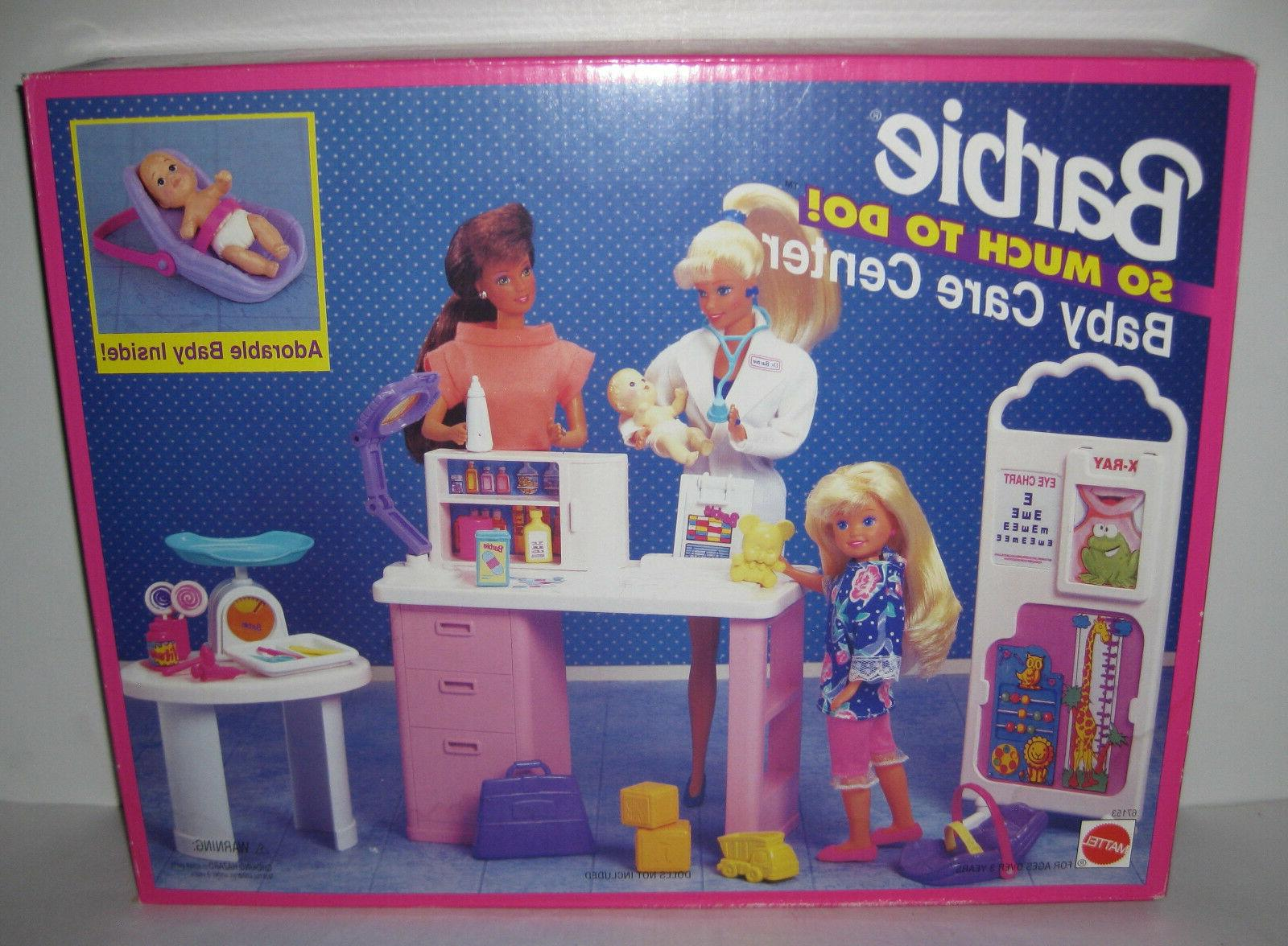 1995 NEW NIB Barbie BABY CARE CENTER So Much To Do Hospital