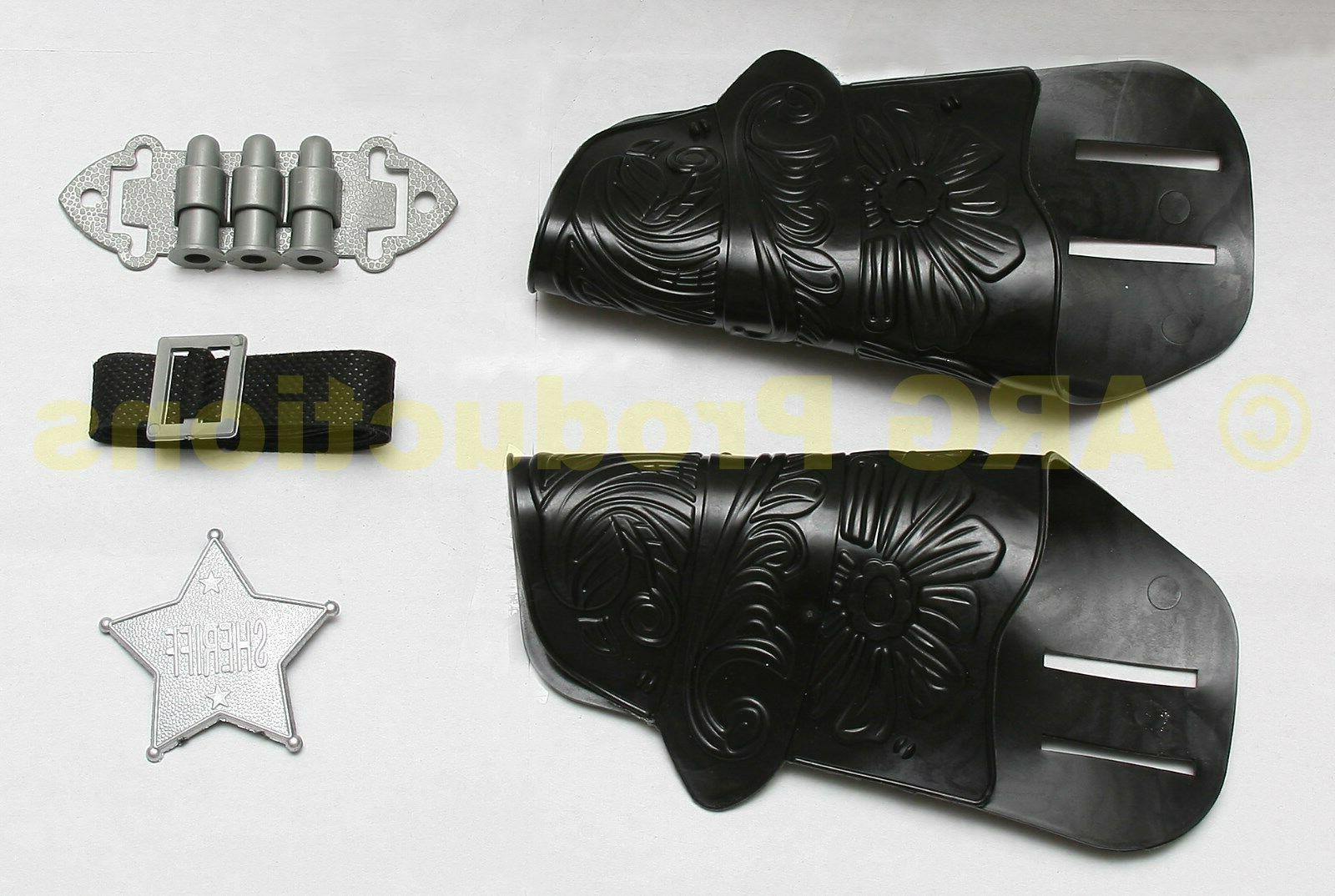 2 GUN TOY PISTOL WILD PLAY SET HOLSTER