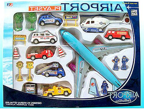 20 Airport Cars Helicopter Set Toys