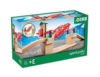 3 piece lifting bridge wooden train track