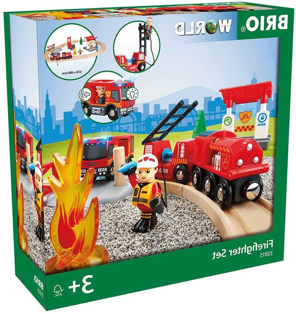 33815 rescue firefighter set 18 piece train