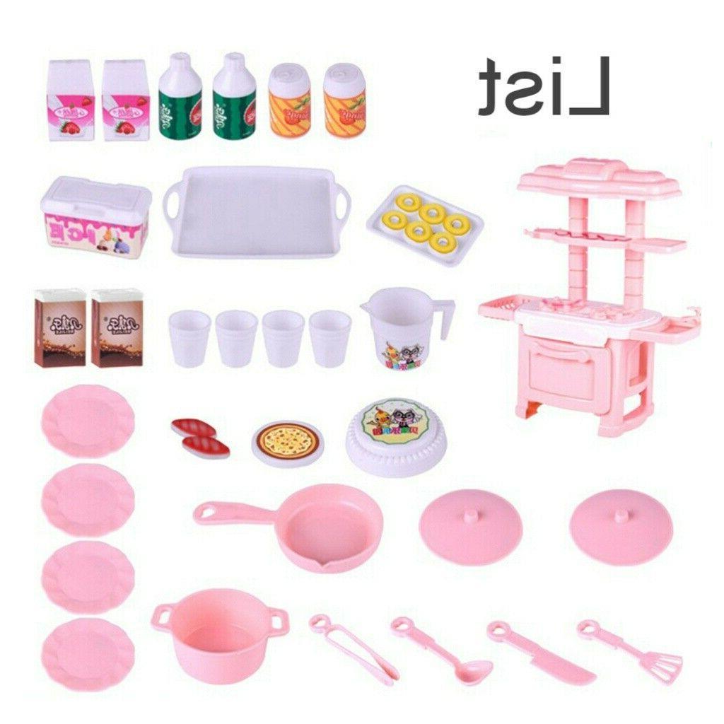 34PCS Pretend Baker Kids Toy Cooking Boys Gift