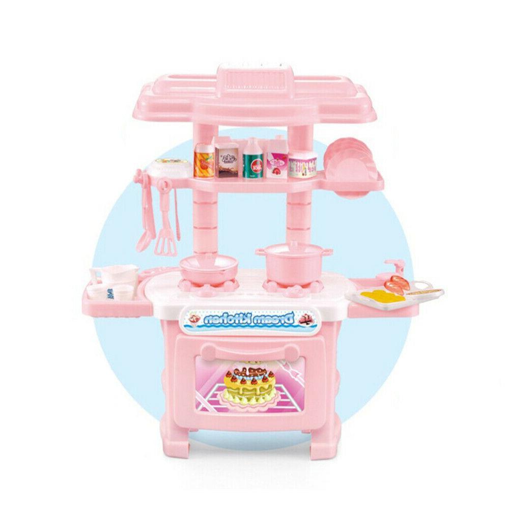 34PCS Play Set Pretend Baker Kids Toy Cooking Boys Gift US