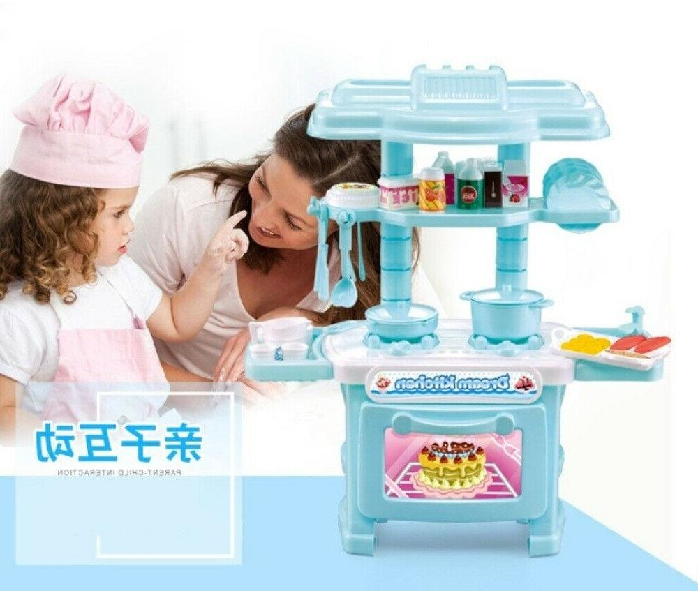 Pretend Toy Cooking Playset Girls Boys Gift