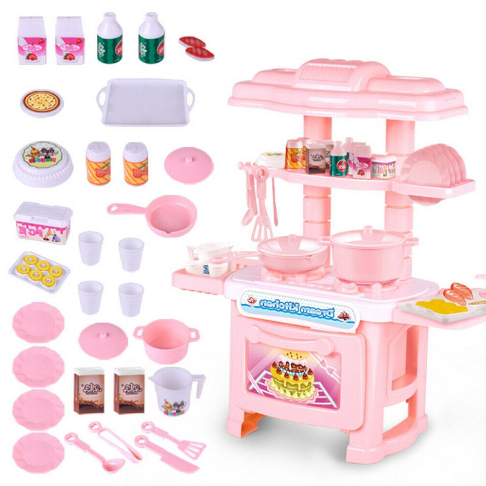 34pcs kitchen play set pretend baker kids