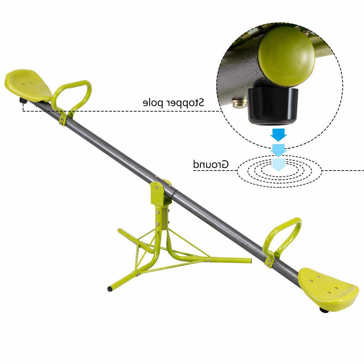 360 degree rotation outdoor kids seesaw teeter