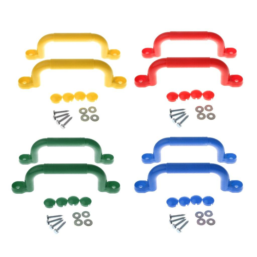 4 Pairs Grips for Climbing Frame <font><b>Play</b></font> House, with Hardware <font><b>Set</b></font> Replacement