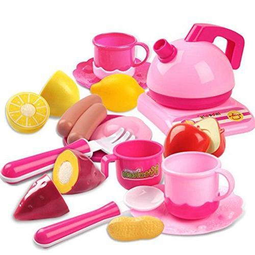 42 Set Girls Vegetable Tea Toy for Age Development Food Assortment Set