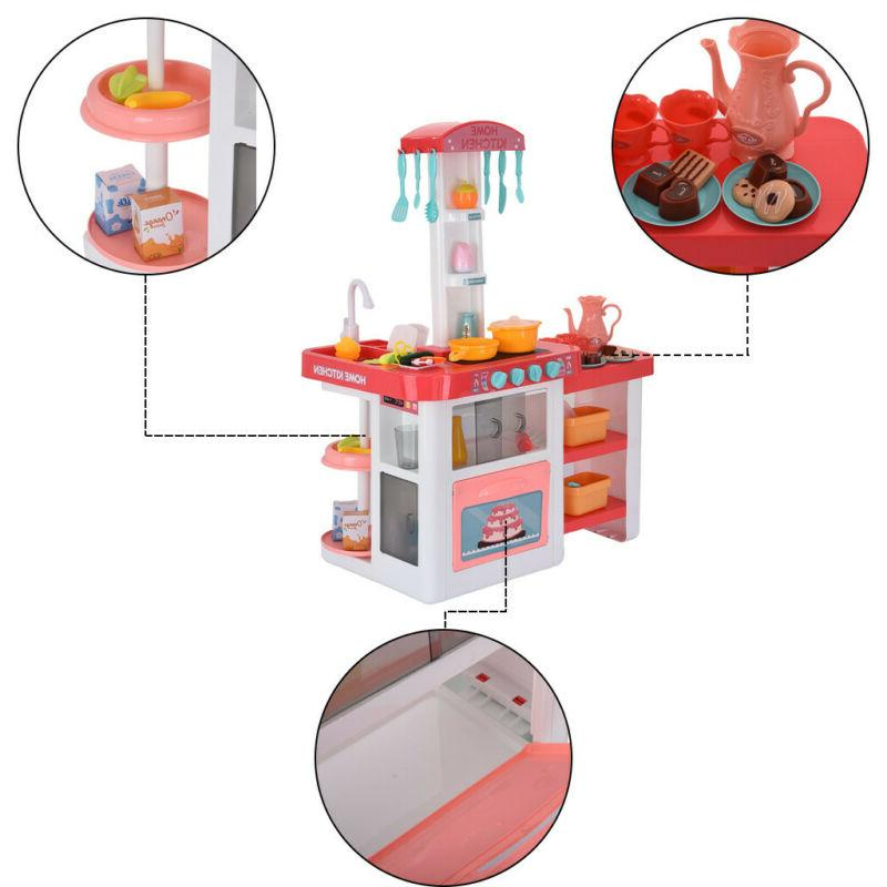 For Pretend Toy Kitchen Playset Play Water