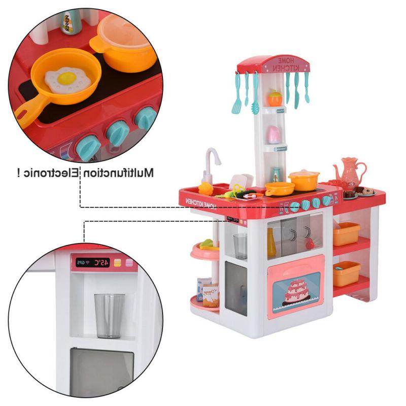 For Kids Pretend Toy Playset Play Water Sounds Kitchenware