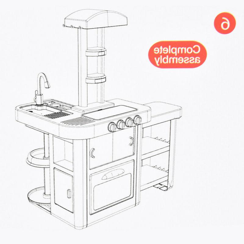 For Toy Kitchen Playset Water Sounds