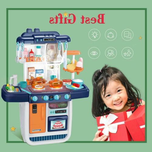 57pcs Kitchen Play Pretend Kids Cooking Playset Gift