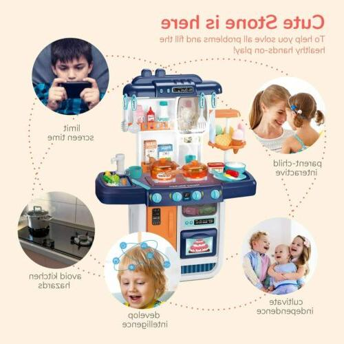 57pcs Kitchen Play Pretend Baker Kids Toy Cooking Gift