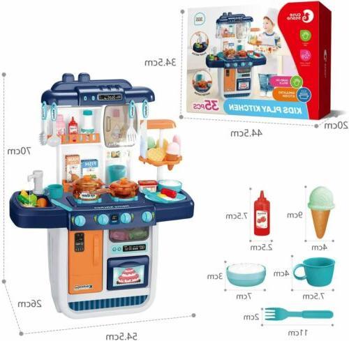 57pcs Pretend Cooking Playset Girls Gift