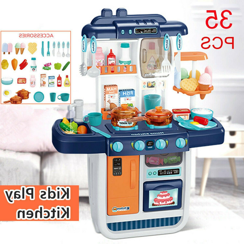 57pcs kitchen play set pretend baker kids