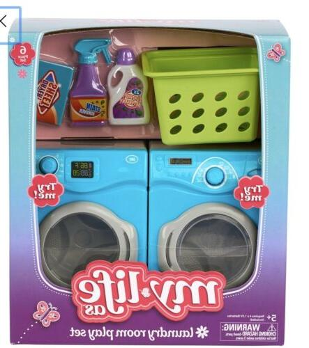 6 piece laundry room play set dollhouse