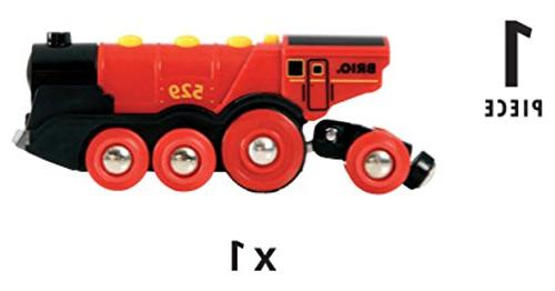 Brio Toy Train, Red Battery With and Effects