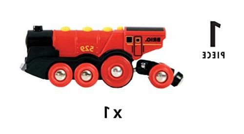 Brio Mighty Toy Train, Red Battery Operated Toy With Effects
