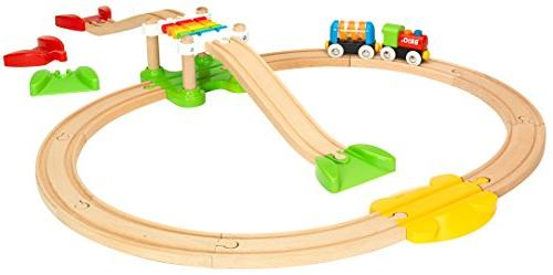 Brio My First Beginner Pack Wooden Train Set - with European Beech and Works with Wooden Railway