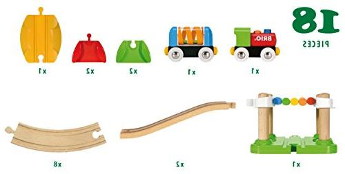 Brio First Railway Beginner Toy Train Made with European Wood and Works Wooden