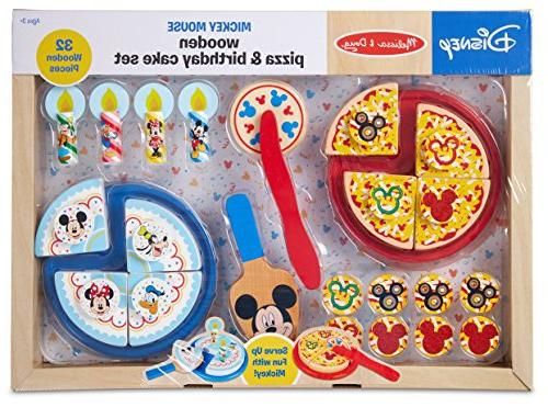 Melissa Doug Wooden Pizza And Cake Play Set Toys Games