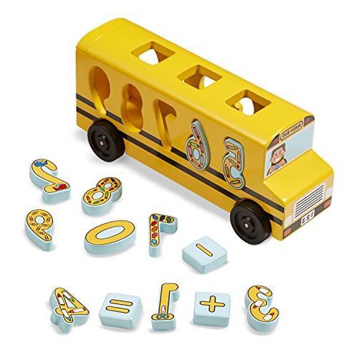 Melissa & Doug Number Matching Math Bus - Educational Toy Wi