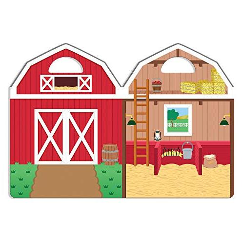 """Melissa & Doug the Play Set, Reusable Set, Double-Sided Stickers, 8.2"""""""" W x 0.2"""""""" L"""