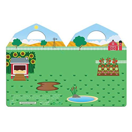 "Melissa & Doug the Farm Sticker Play Set, Reusable Puffy Set, Stickers, 11"""" H 8.2"""" 0.2"""" L"