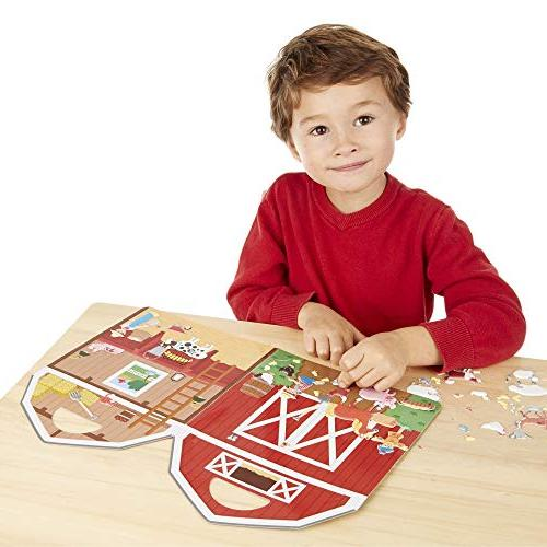 Melissa & the Farm Sticker Play Set, Activity Reusable Play Set, Double-Sided Stickers, H L
