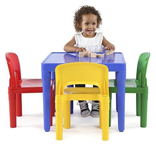 Tot Kids Plastic Table Set, Colors