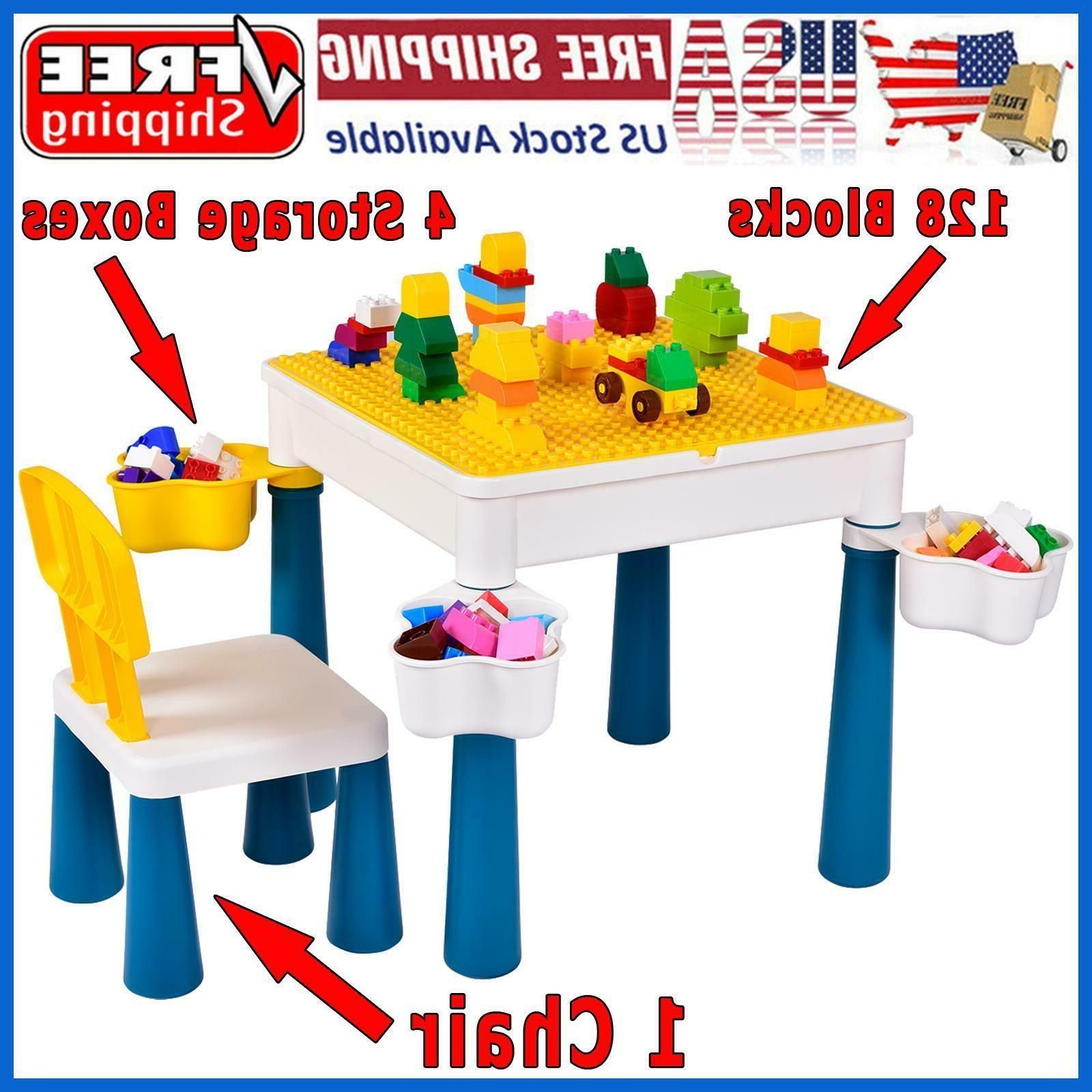 activity table play set for kids 128pcs