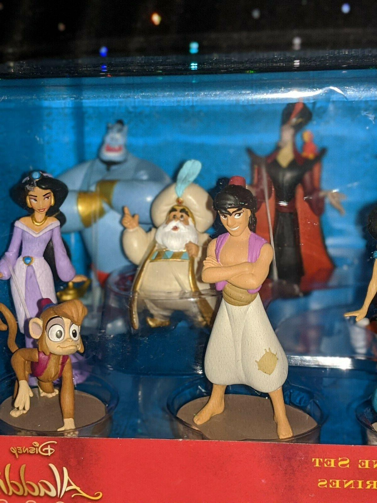Disney, Aladdin, 9 Deluxe Figurine Playset/Giftset, Jasmine, Genie, Jafar