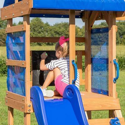 Wooden Cedar Playground Slide Backyard NEW
