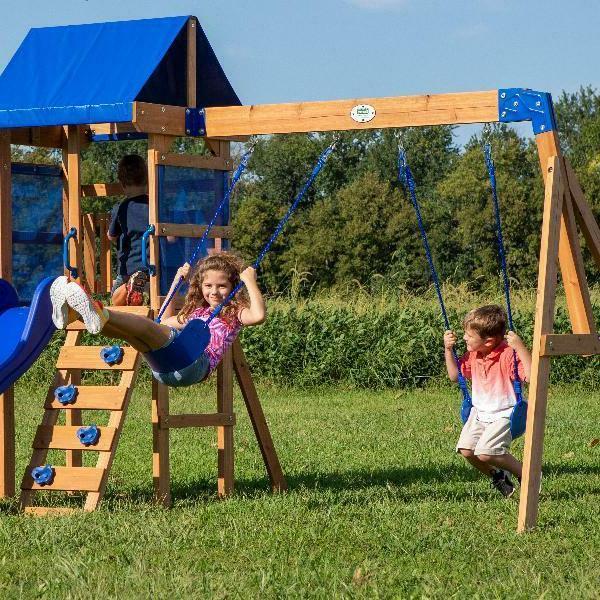 Backyard Discovery Aurora Wooden Cedar Swing Set