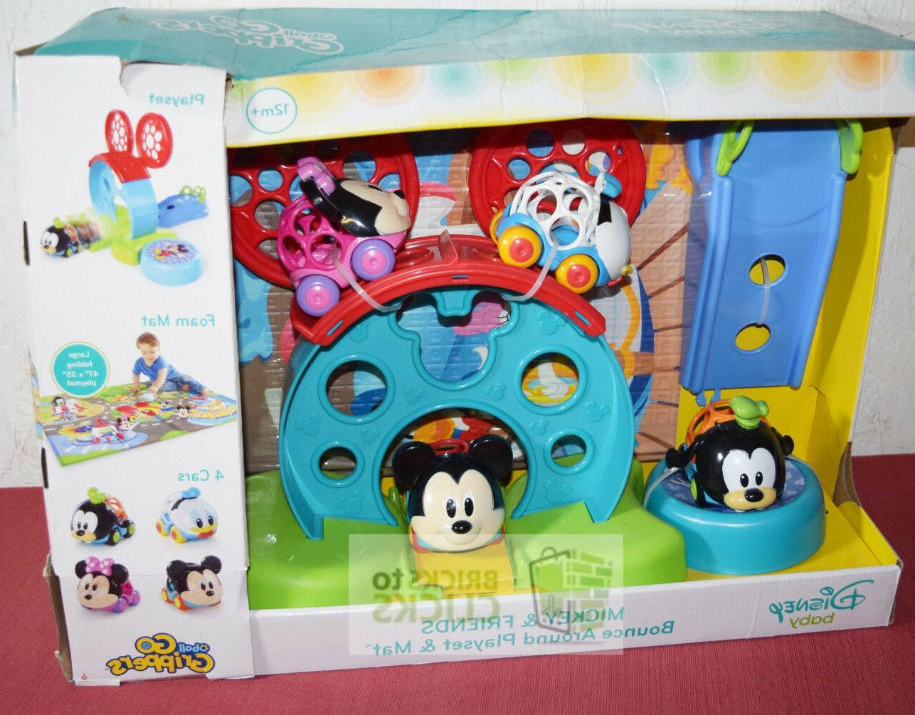 baby mickey and friends bounce around playset